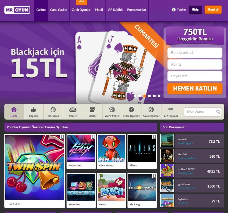 Mr Oyun, Online Canlı casino & poker